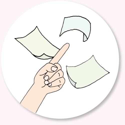 Auswahl an Papierformen